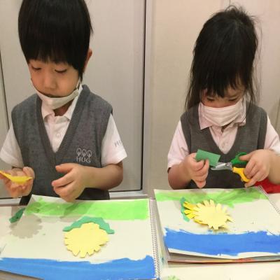 水曜日カリキュラムは絵画です!《大阪市中央区心斎橋、長堀橋にある学べる保育園HUGキッズ》