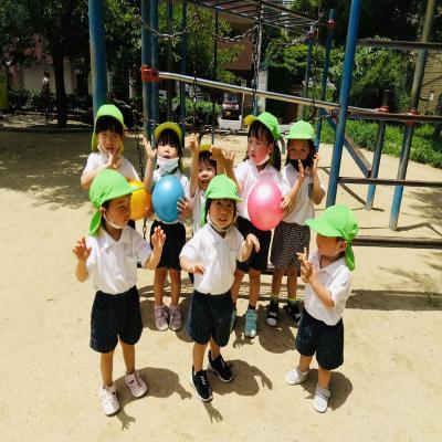金曜日カリキュラムは外遊びです!《大阪市中央区心斎橋、長堀橋にある学べる保育園HUGキッズ》