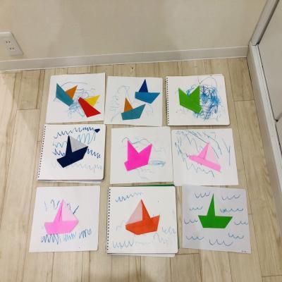 水曜日のカリキュラムは絵画です≪大阪市中央区長堀橋心斎橋にある学べる保育園≫