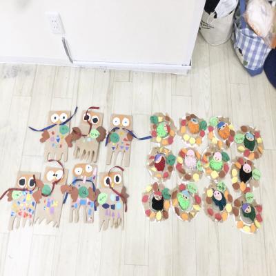 火曜日カリキュラムはクラフトです!《大阪市中央区心斎橋、長堀橋にある学べる保育園HUGキッズ》