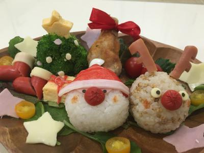 12月のHUG弁☆『サンタとトナカイ』のクリスマス
