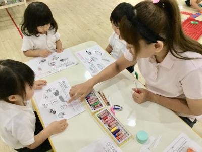 ワークをしたよー!«大阪市中央区心斎橋、長堀橋にある保育園»