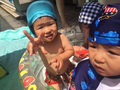 みんな大好き♪水遊び《大阪市中央区心斎橋、長堀橋にある保育園