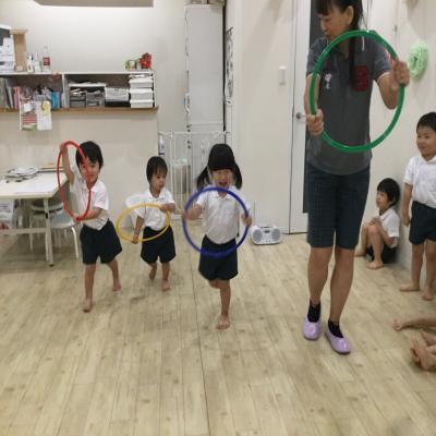 運動会の練習の練習始まりました♪《大阪市中央区心斎橋、長堀橋にある保育園》